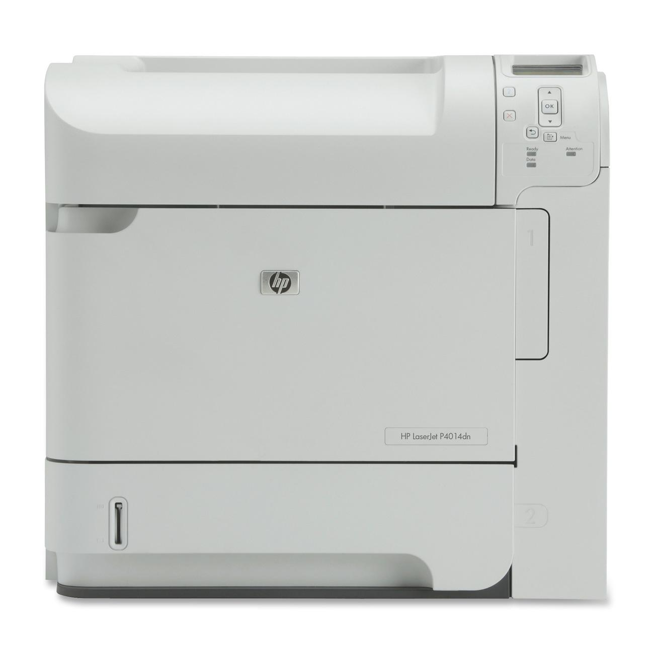 HP LaserJet P4014DN Laser Printer - Monochrome - 1200 x 1200 dpi Print - Plain Paper Print - Desktop - 45 ppm Mono Print - Letter, Legal, Executive, Statement, Government Legal, Envelope No. 7 3/4, Com10 Envelope, Monarch Envelope, Custom Size - 600 sheet 0