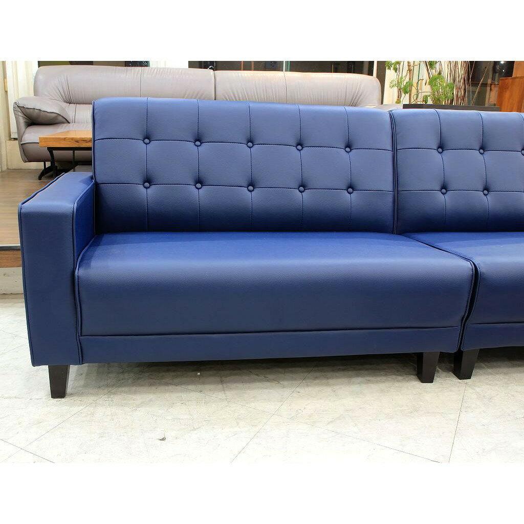 【歐風別館】美式復古風乳膠皮沙發--四人座【基隆至台中免運費】