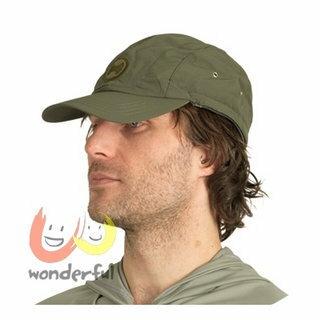 hyphen 防曬UPF80可拆式護頸帽墨綠54/56