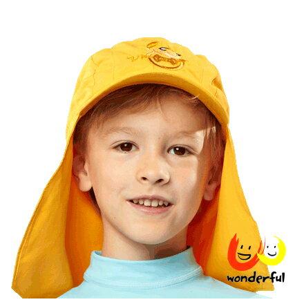 hyphen 防曬UPF80護頸帽橘色54/56