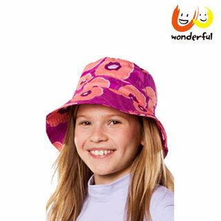 hyphen 防曬UPF60夏豔輕軟遮陽帽-紫54/56