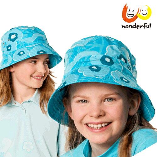 hyphen 防曬UPF60夏豔輕軟遮陽帽藍50/52