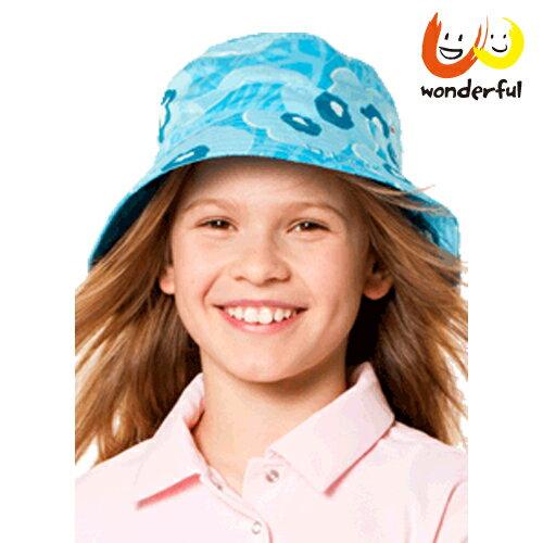 hyphen 新款防曬UPF60夏豔輕軟遮陽帽藍54/56