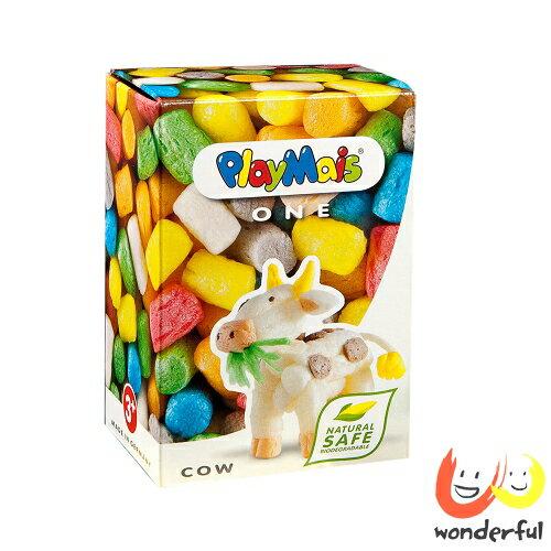 Playmais 玩玉米創意黏土小巧盒-牛