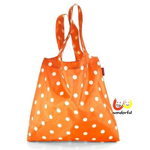 reisenthel 輕便環保購物提袋-橘色水玉