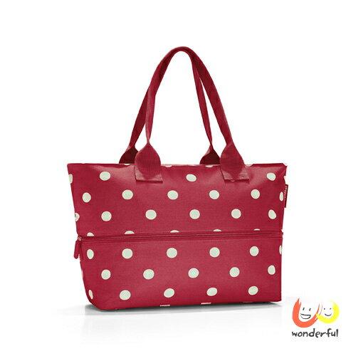 <br/><br/>  reisenthel 可擴充時尚購物袋-紅色水玉<br/><br/>