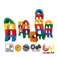 積木玩具推薦到【桌上遊戲】Selecta 彩虹斜塔疊高高就在玩德瘋 樂天分店推薦積木玩具