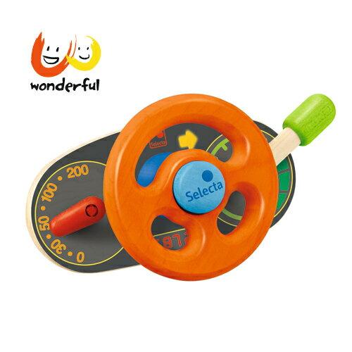 Selecta 木製方向盤推車玩具
