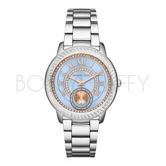 MK6286 MICHAEL KORS 銀藍腕錶 不銹鋼錶帶手錶