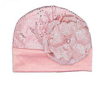 【HELLA 媽咪寶貝】美國Jamie Rae 女童/女寶寶時尚糖果粉軟帽/亮粉粉玫瑰(JRCSC01)