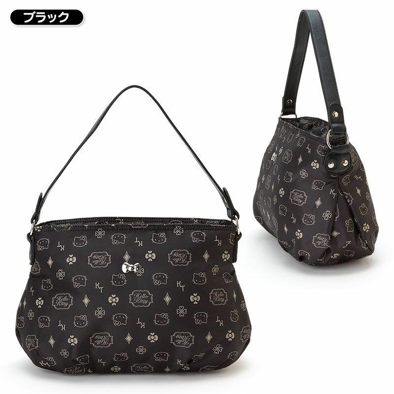 【真愛日本】16021800004 輕量兩用包-滿版多圖黑 三麗鷗Hello Kitty凱蒂貓 手提包 側背包 包包