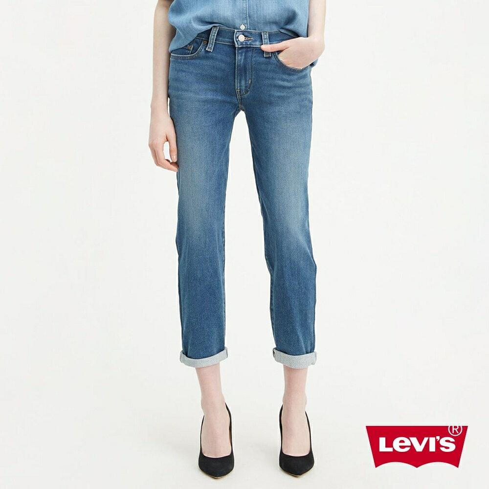 Levis 男友褲  /  中腰寬鬆版牛仔褲  /  淺藍刷白  /  彈性布料 1
