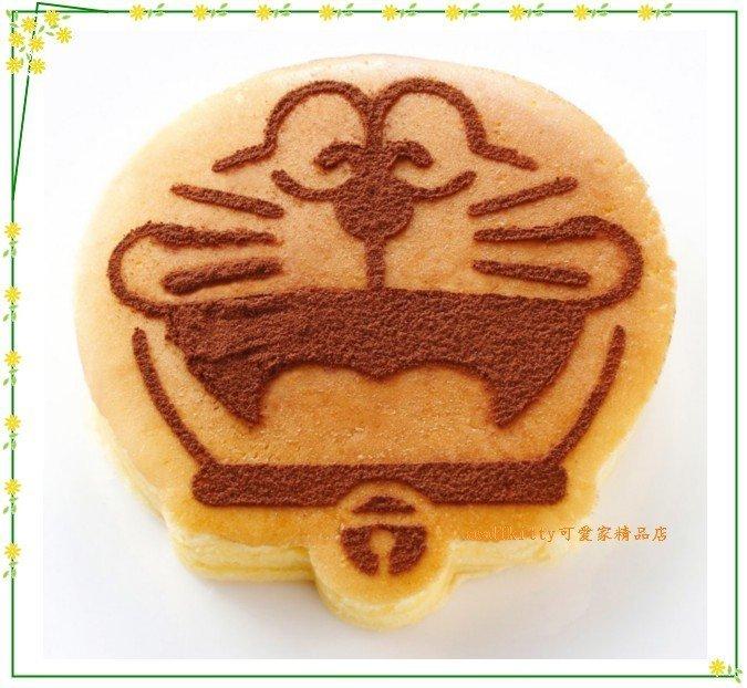 asdfkitty可愛家☆貝印哆啦A夢平底鍋煎模+粉篩.可煎蛋.鬆餅.漢堡當蛋糕壓模-日本製