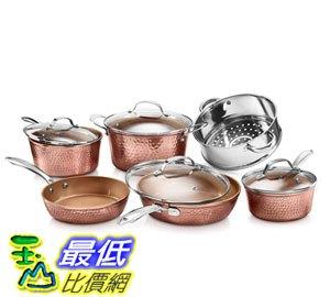 [8美國直購] 不沾鍋 廚具套裝 Gotham Steel Hammered Collection 10 Piece Premium Cookware Set B07MSK8QCH - 限時優惠好康折扣