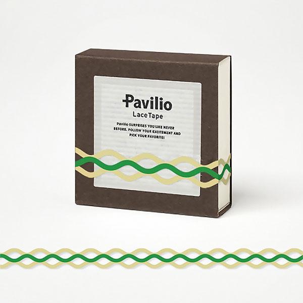 【日本Pavilio】風格膠帶MINI系列F-MI19NG娜咪綠捲