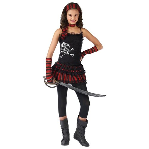 Skull Rocker Pirate Child Halloween Costume 0