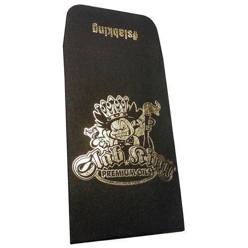 100 Original Black Gold SLAB KING Wax Shatter Labels Coin Foil Envelopes #029 1