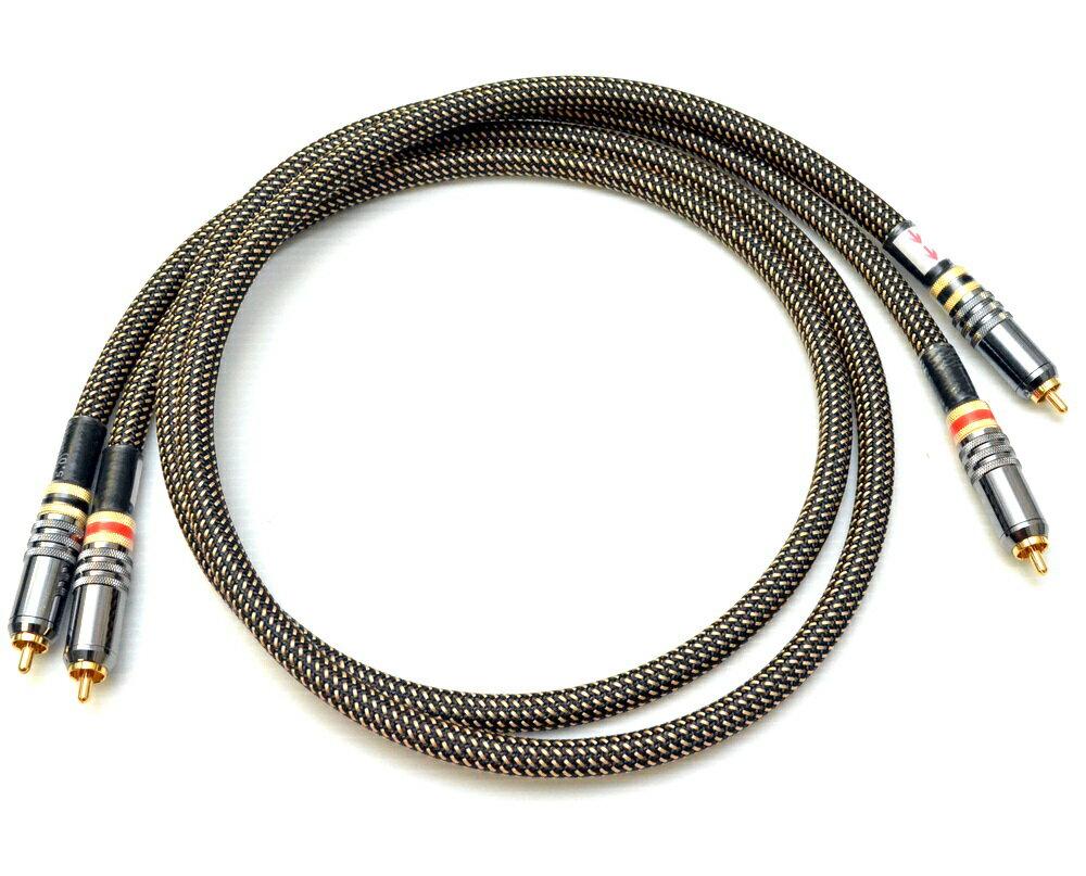 志達電子 CAB081 立體RCA 轉 RCA 轉接線 鐵三角 高純度OFC導線 採用混合