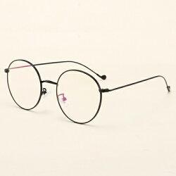 ★眼鏡框圓框眼鏡鏡架-學院風復古細邊流行男女平光眼鏡6色73oe37【獨家進口】【米蘭精品】