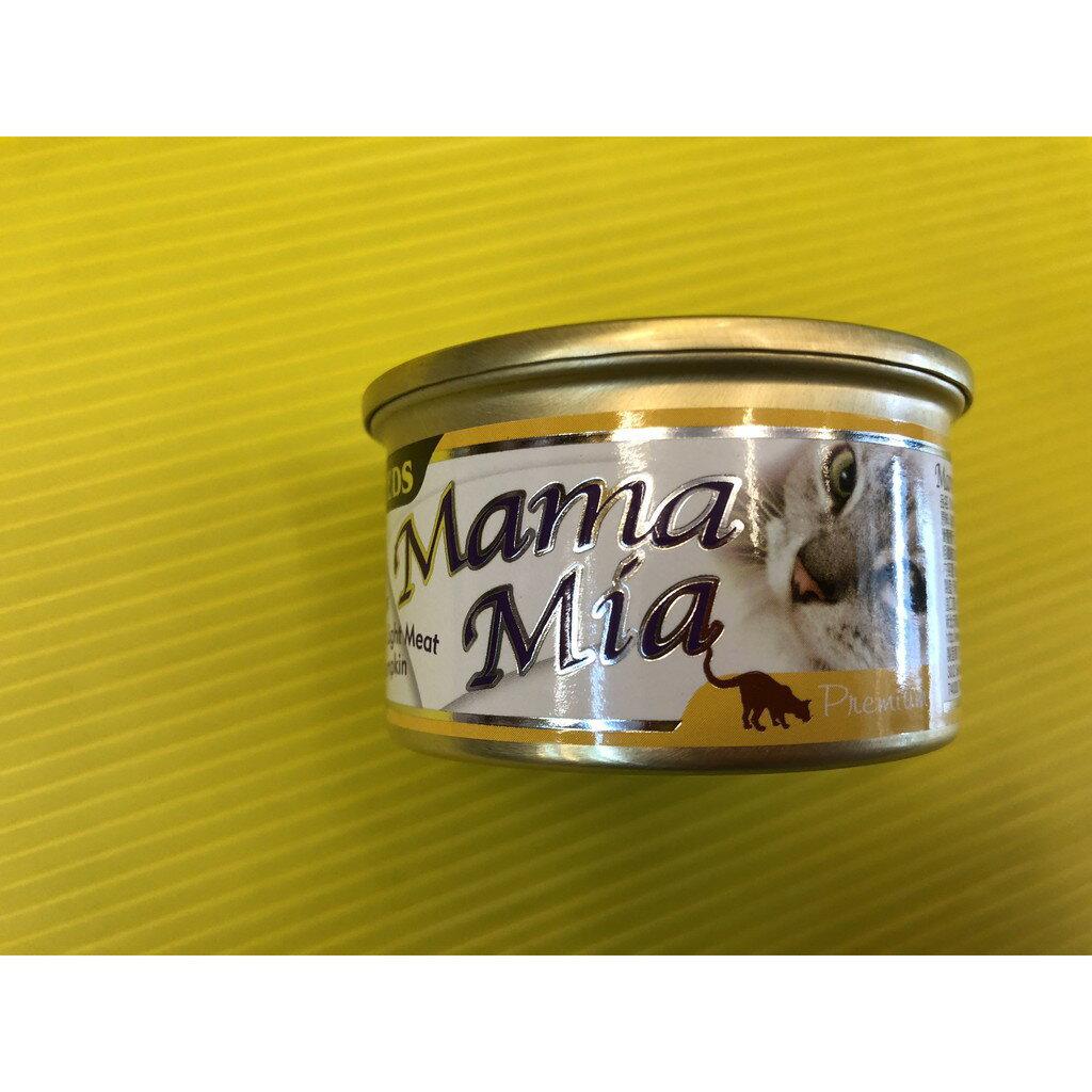 ✪四寶的店n✪惜時Seeds 小 Mama mia 惜時 貓罐/貓罐頭/(白身鮪魚+雞肉+南瓜) 85g