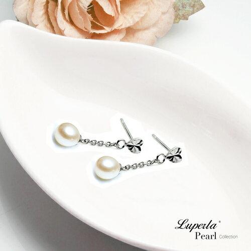 大東山珠寶 心肝寶貝 淡水珍珠耳環 天然櫻花粉 1