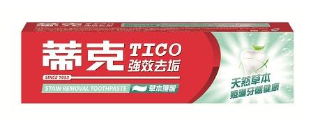 蒂克強效去垢牙膏(草本護齦)120g