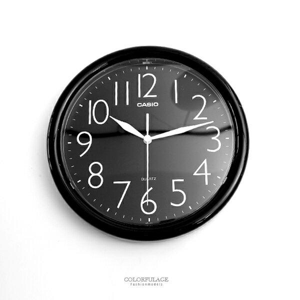 時鐘 CASIO簡約現代全黑掛鐘【NVC2】柒彩年代