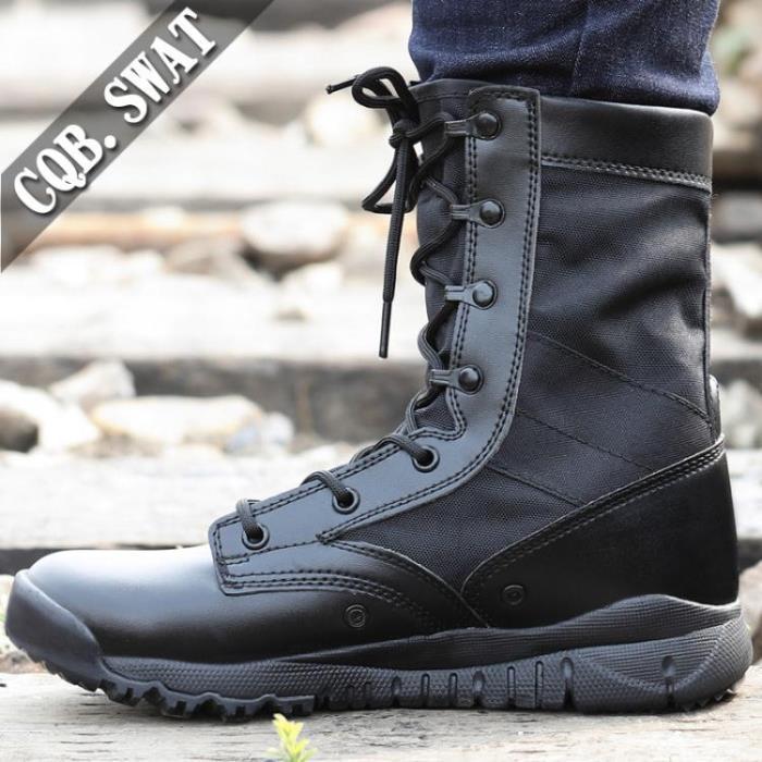 軍靴男超輕作戰靴男07軍靴透氣高幫戰術靴馬丁靴陸戰靴工裝靴