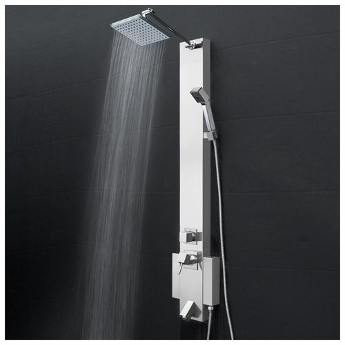 "47.6"" Shower Panel Function Wand Handheld Spout Tub Wall Mount Rainfall Style System AK822322 0"