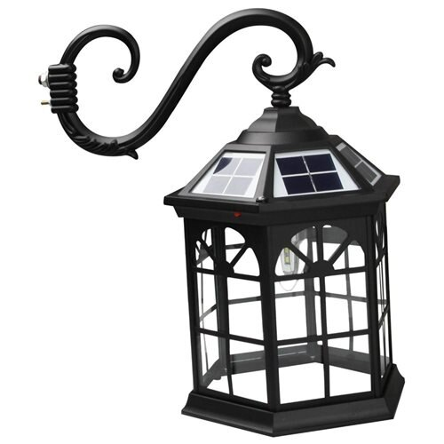 8 feet high outdoor solar lamp post with two heads and LED Lights SL-3801black2.45m 2