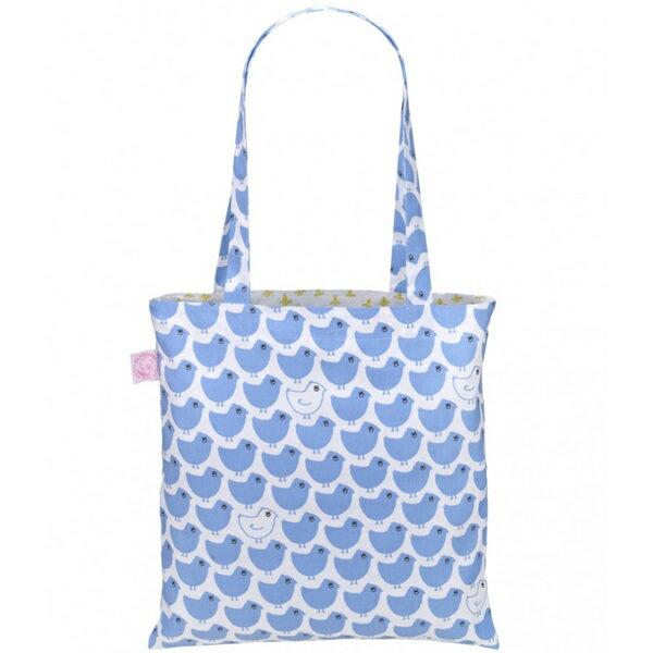 《法國 La Cocotte Paris》巴黎小散步雙面托特包/購物袋 Blue Minipoussin / Ochre Lysette 0