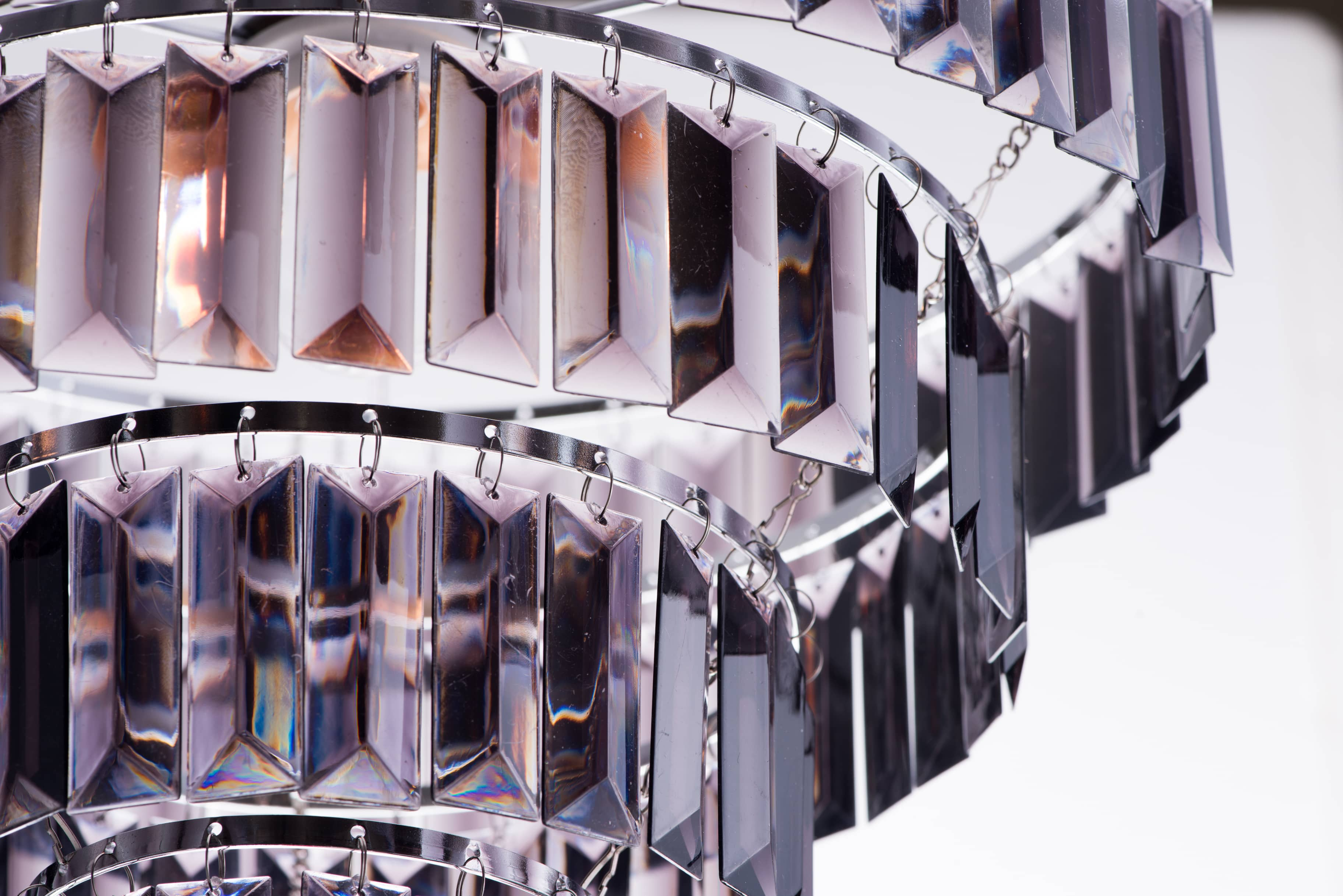 鍍鉻多層次燻黑壓克力板吊燈-BNL00043 3