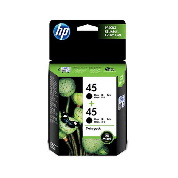 618購物節HP 黑色(雙包裝)原廠墨水匣 / 組 CC625AA 45