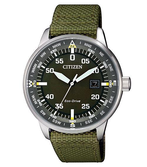 清水鐘錶 CITIZEN 星辰Eco-Drive 復刻潮流光動能男腕錶 綠 BM7390-22X 42mm