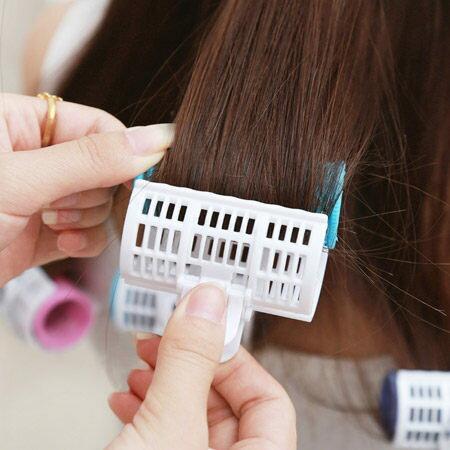 空氣瀏海雙層髮捲夾(3入一組) 25mm 波浪捲 梨花捲 不傷髮捲髮神器 美髮小物【N200653】