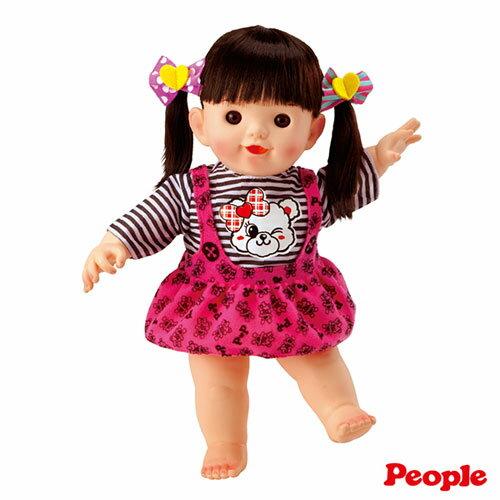 【奇買親子購物網】POPO-CHAN 洋娃娃系列-小熊吊帶裙長髮POPO-CHAN