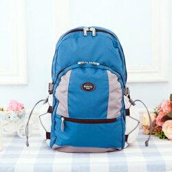【Roberta Juden】小背包背開拉鍊 輕量防潑水布料(R702-新藍色)【威奇包仔通】