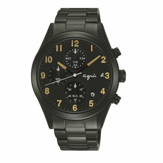 agnesbVD57-KT20K(BM3010X1)黑金巴黎時尚計時腕錶黑面40mm
