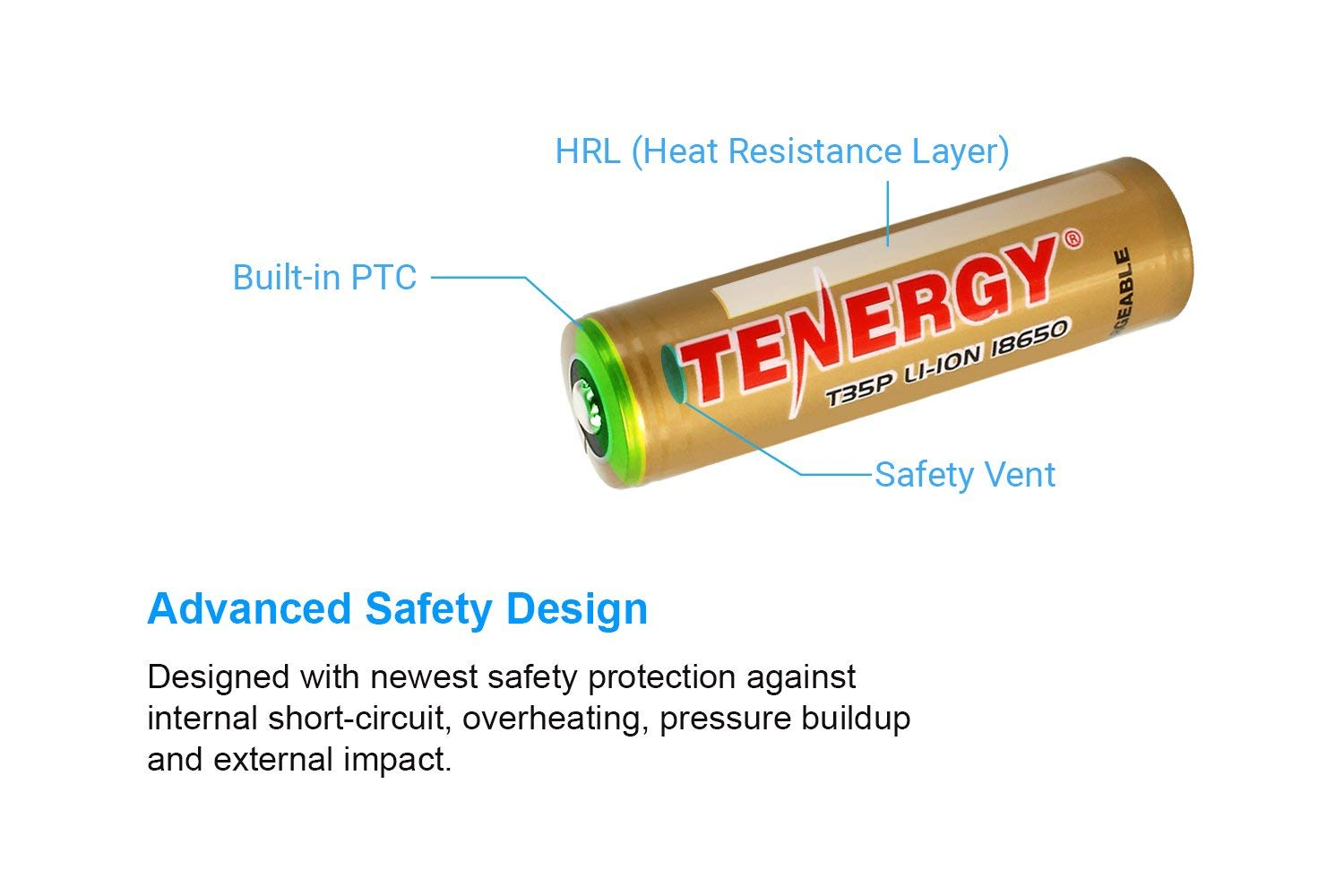 Tenergy 18650 Battery 36v 3500mah Rechargeable Batteries Latest Protection Circuit Buy Li Ion Pcb Protected Button Top High