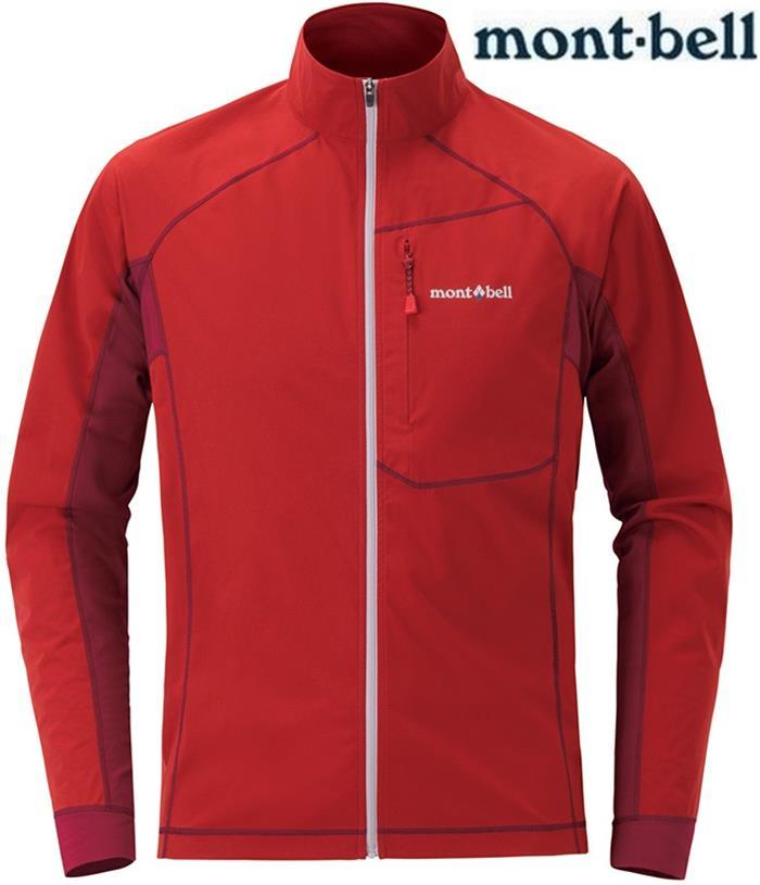 Mont-Bell 彈性跑步風衣/薄軟殼外套 男款軟殼夾克 Cross runner 1106641 磚紅RDBR