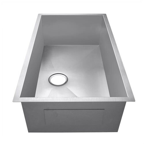 "Golden Vantage 30"" 16 Gauge Stainless Steel Undermount Single Bowl Kitchen Sink 3"