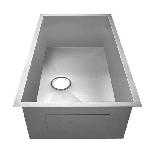 """Golden Vantage 30"""" x 18"""" x 9"""" 16 Gauge Stainless Steel Undermount Single Bowl Kitchen Sink 3"""