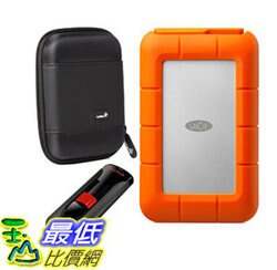 [106美國直購] 可攜式驅動器 LaCie Rugged Raid Thunderbolt and USB 3.0 4TB (STFA4000400) With Ivation Compact