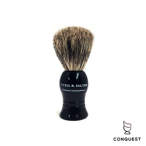 【CONQUEST】英國CyrilRSalter手工黑檀木獾毛刷鬍刷鬍泡刷刮鬍刷ShavingBrush