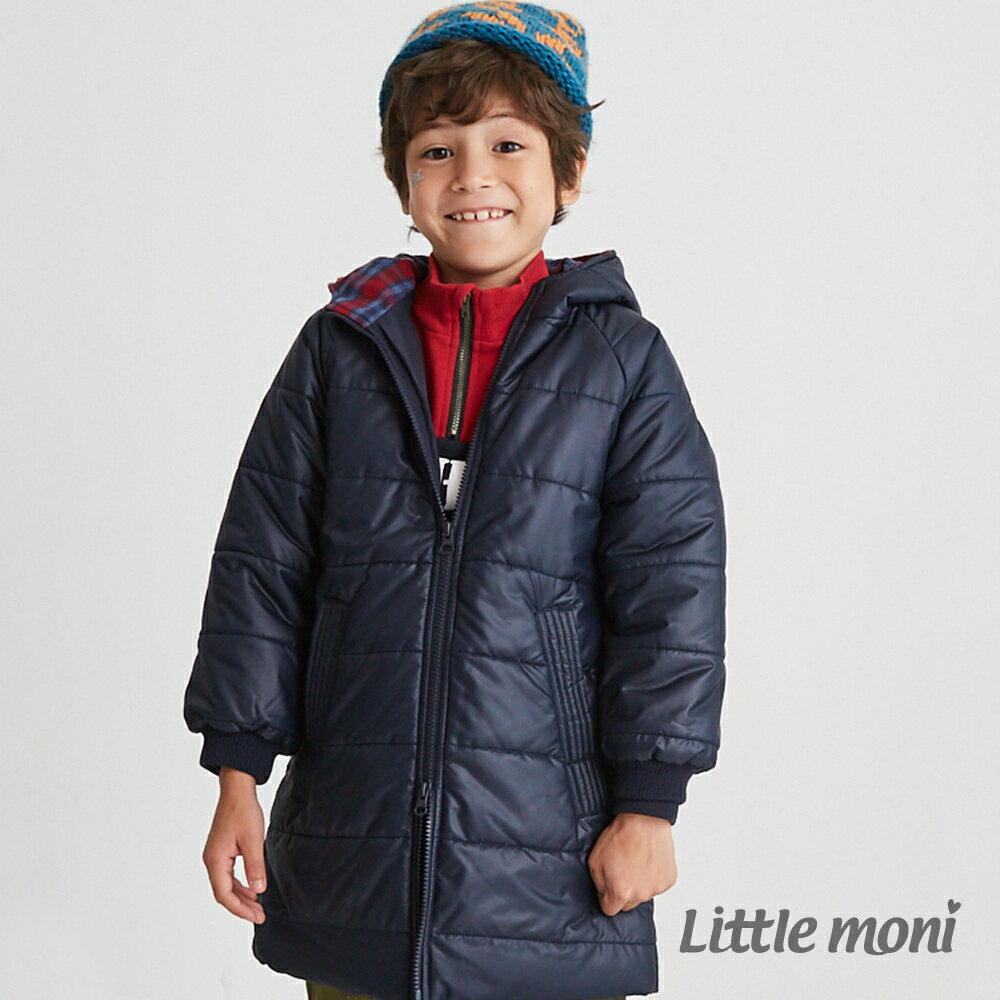 Little moni 3M科技羽絨保暖長版外套-深藍(好窩生活節) 1