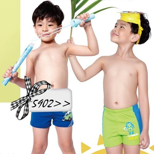 ☆小薇的店☆台灣製沙麗品牌【亮彩機器人圖騰】時尚男童二分泳褲特價230元NO.5902(S-XL)