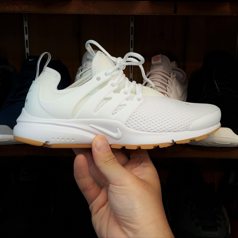 NIKE WMNS AIR PRESTO 白色 全白 白黃 黃底 魚骨鞋 網布 襪套 慢跑鞋 878068-101