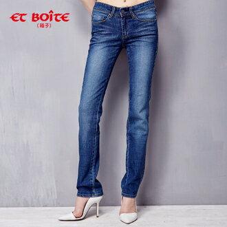【1件5折兩件3折】SKINNY彈性小直筒牛仔褲(淺藍) - BLUE WAY ET BOiTE 箱子