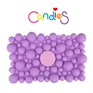 FENICE:【Candies】ENFILL泡泡手拿包(紫)可愛俏皮上市!!