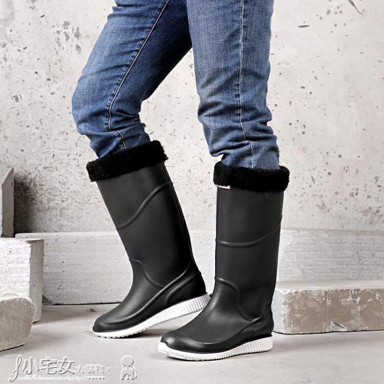 長筒雨靴 高筒雨鞋男防水工作加絨保暖防滑水鞋雨靴加厚耐磨長筒膠鞋釣魚鞋 雙12